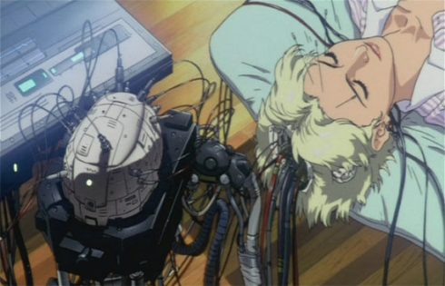 "A cyber brain as pictured in the cartoon ""Ghost in the Shell"""